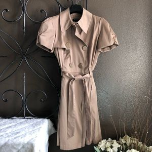 INC International Concepts Camel Trench Coat (M)